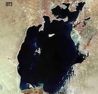 el Mar de Aral en 1973