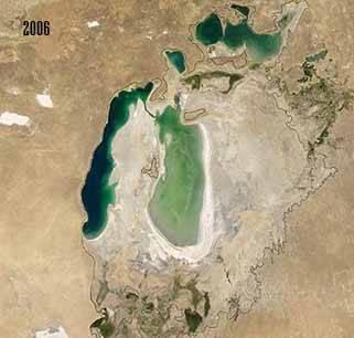 el Mar de Aral en 2006