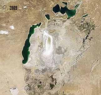el Mar de Aral en 2009