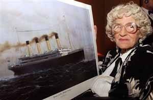 Millvina Dean, superviviente del Titanic