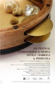 cartel XIV festival musica antigua y barroca, Peñíscola 2009