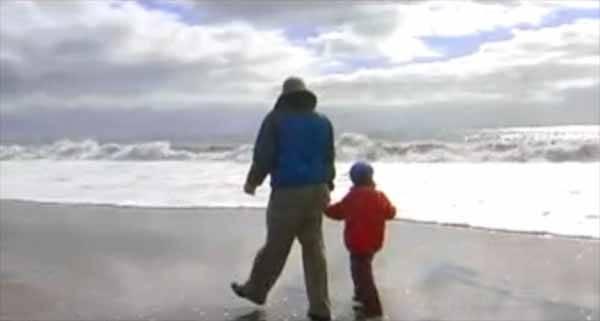 niño y abuelo pescador