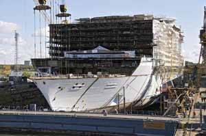 Oasis of the Seas en el astillero STX