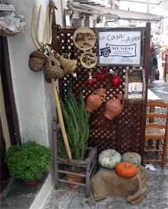 Peñíscola, museo casa tradicional, celosía en la entrada