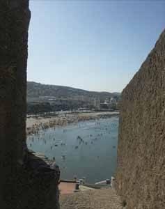 Peñíscola, playa norte desde la muralla del castillo