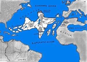 imaginario plano de la Atlántida