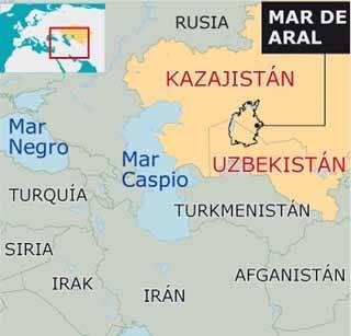 plano del Mar de Aral