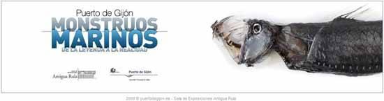 portada exposición Mostruos marinos, Puerto de Gijón