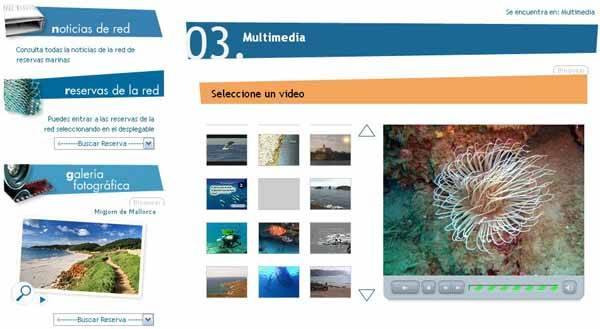 reservas marinas, sección multimedia