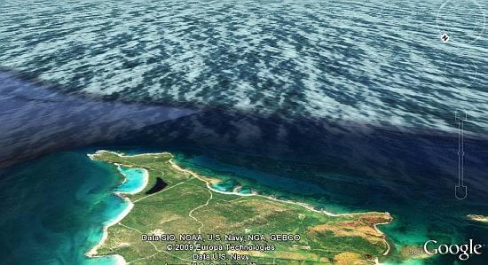Google Earth superficie oceano