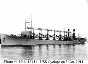 USS Cyclops, desaparecido en el triángulo de las Bermudas