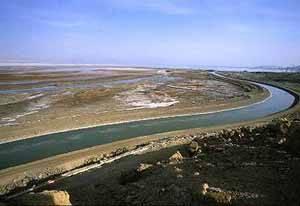 vista del canal de mar muerto