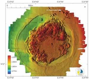 volcán submarino Hakon-mosby, gráfico