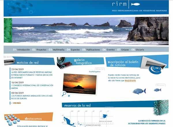 nueva página web de Reservas Marinas
