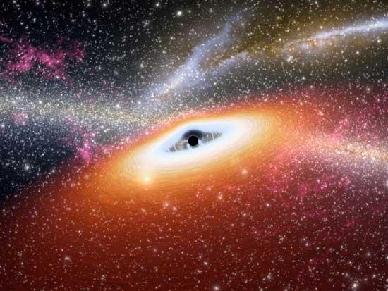 cuásar albergando un agujero negro
