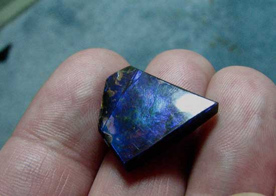 amonita azul, piedra-preciosa