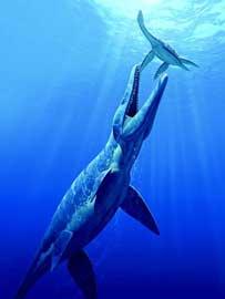 batalla de monstruos marinos prehistoricos