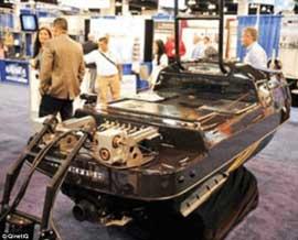 Blackfish moto acúatica robótica de vigilancia en una exposición