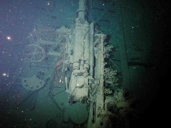 cañon de 37mm del submarino alemán U-166