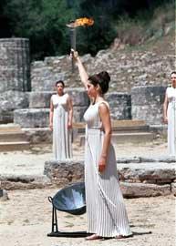ceremonia de los Juegos Olímpicos en Grecia