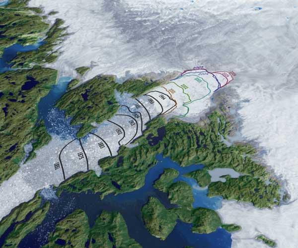 disminución glaciar Jakobshavn