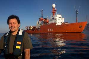 Duarte y el Hespérides, expedición Malaspina 2010