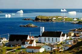icebergs en Twillingate, Canadá