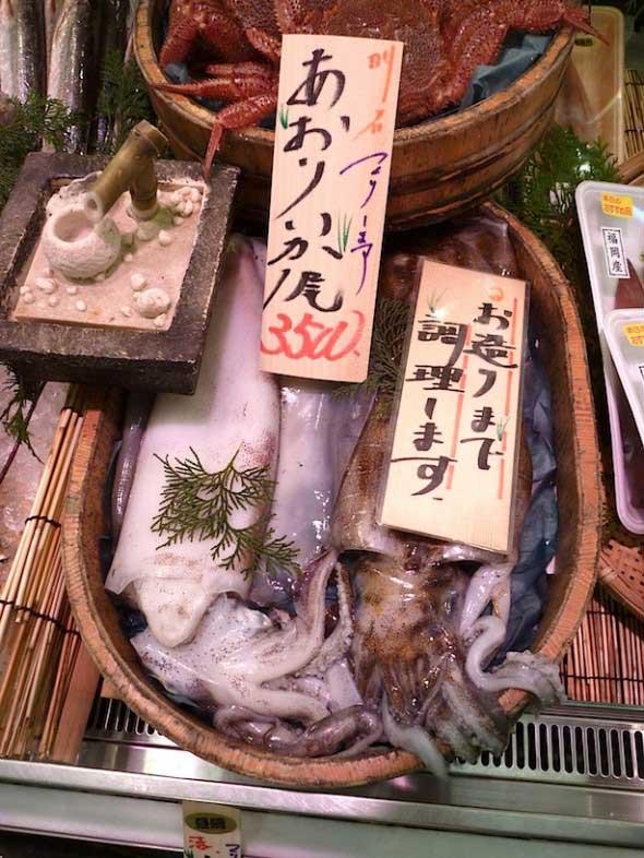 Jardín Zen con calamares