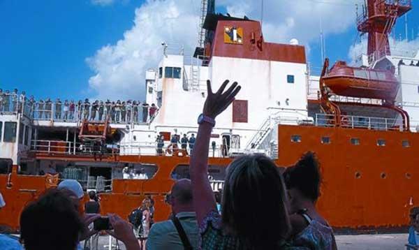 La expedición Malaspina arriba a Cartagena a bordo del Hespérides