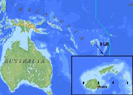 mapa situación islas Fiyi
