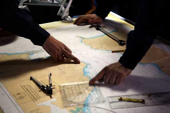 ruta en los mapas, expedición Malaspina 2010