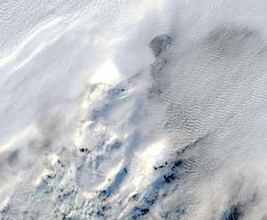 plataforma de hielo Sulzberger el 11 de marzo, con cielos nublados