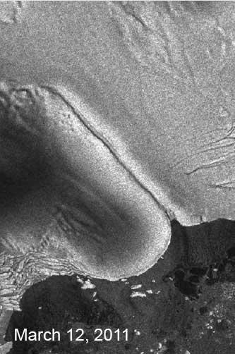 plataforma de hielo Sulzberger, Antártida antes del tsunami