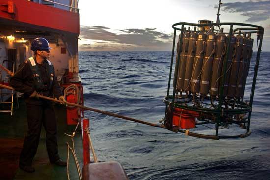 recogida de muestras en el océano, Malaspina 2010