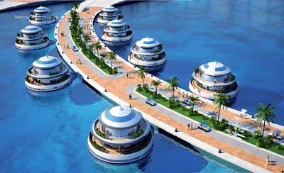 'Medusas' en el resort hotelero anfibio de Qatar