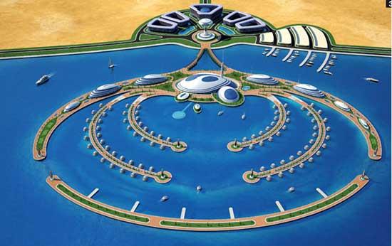 Complejo hotelero semi-sumergido en Qatar