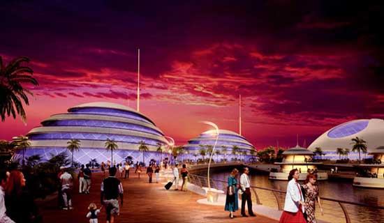 Hoteles del complejo anfibio en Qatar