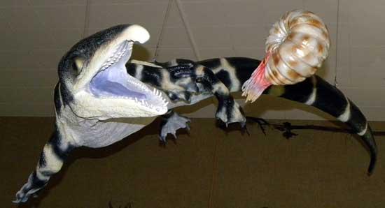 talatosaurio, recreación en un museo