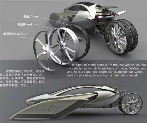 YEE, coche volador de diseño chino