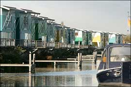 casas anfibias en Maasbommel, Holanda