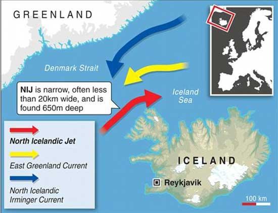 Nueva corriente oceánica descubierta en Islandia