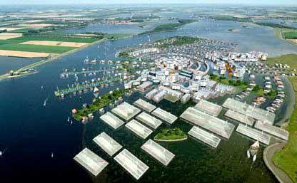 futura ciudad de casas flotantes