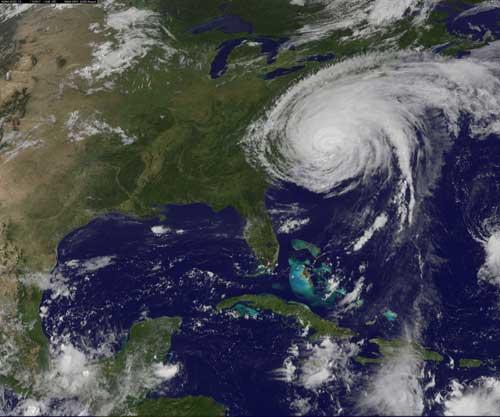 huracán Irene sobre Nueva York, vista de satélite 26-27