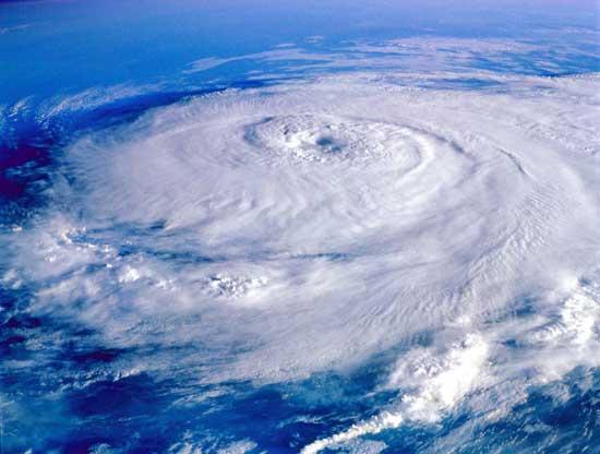huracán Irene, vista desde sátelite