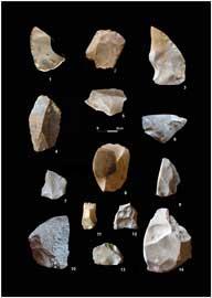 industrías líticas en cueva Bajondillo