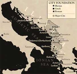mapa de la antigua Iliria