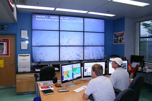 Los oceanográfos Oscar Schofield y Scott Glenn