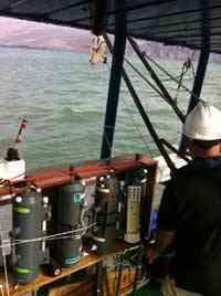 analisis del agua por el buque Profesor Ignacio Lozano