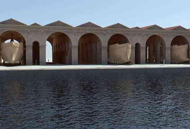 antiguo astillero romano de Portus