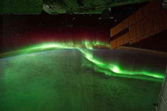 Aurora Australis desde la Estación Espacial Internacional